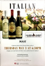 Masi wine event poster