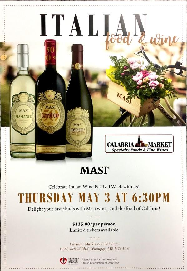 Masi wine event poster